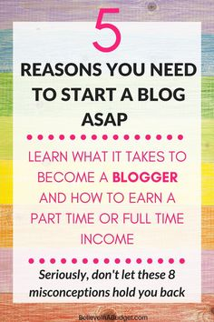 Here are 5 reasons you need to start a blog ASAP. Seriously, don't be scared…
