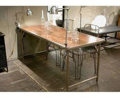 Table pliante Playtime bois et métal de Chehoma sur Deco and Me