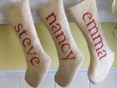 Hey, I found this really awesome Etsy listing at http://www.etsy.com/listing/89454881/custom-personalized-burlap-christmas