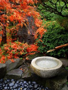 Tsukubai Water Basin by Miriam.PDX, via Flickr
