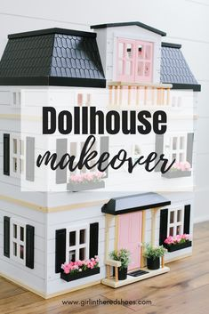 Dollhouse Makeover · The Girl in the Red Shoes Doll Furniture, Dollhouse Furniture, Couch And Chair Set, Cardboard Dollhouse, Cute Living Room, Doll House Plans, Contemporary Cottage, Teenage Room, Pink Pillows