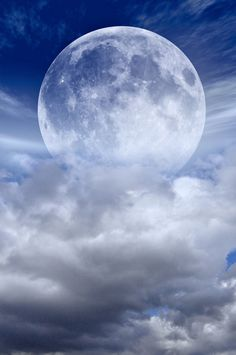 ...the Moon above the clouds