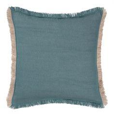 Bestes Leinen und weiche Baumwolle werden für unser Kissen Alkas in edler…