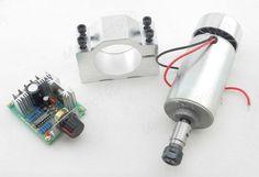CNC Spindle 300W Motor ER11 PWM DC Speed Controller Mount Bracket Engraving | eBay