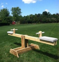 DIY Ana White Teeter Totter / Wippe aus Altholz – Vinicius Bruni – join in the world of pin Wood Playground, Kids Backyard Playground, Backyard For Kids, Backyard Games, Backyard Landscaping, Backyard Ideas, Playground Ideas, Kids Outdoor Play, Outdoor Fun