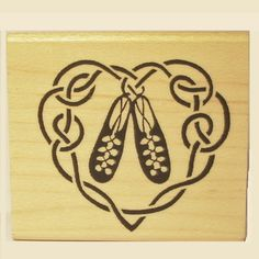 Irish Dance Shoe Heart Rubber Stamp