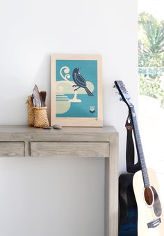 Over on our blog, styled art by Jenna Smith for endemicworld. 'Punga with Pohutakawa' print on ply by Greg Straight http://nzartprints.co.nz/2015/08/styled-displaying-art-prints-in-your-home/