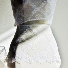 LACE TRIM SCALLOP65 Extra Wide White Pineapple 31 inches by DartingDogCrafts