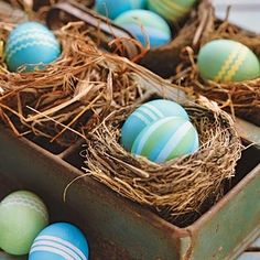Decorating Easter Eggs: Dyeing Striped, Dotted, and Zigzag Eggs | Family Circle