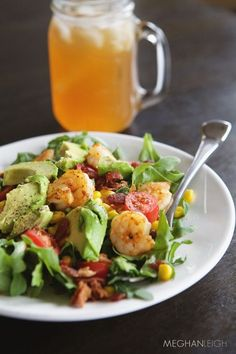 Tasty Tuesday - Grilled Shrimp and Arugula Salad with Corn
