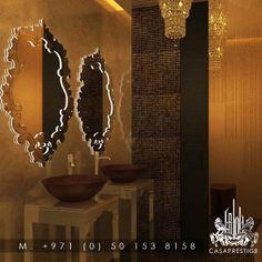 #luxury #bathroom #mirror #sink #design from #casaprestige www.casaprestige.ae Sink Design, Bathroom Spa, Luxury Interior Design, Toilets, Mirror, House, Ideas, Home Decor, Bathrooms
