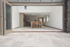 Silver Cloud sandblasted & brushed limestone tiles available for kitchen floor tiles. Outdoor Tiles Floor, Outdoor Pavers, Patio Tiles, Outdoor Stone, Hallway Flooring, Outdoor Flooring, Kitchen Flooring, Kitchen Backsplash, Limestone Flooring