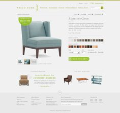 Weego Home Furniture Store Product Detail Page Web Design Examples, Web Ui Design, At Home Furniture Store, Custom Furniture, Ecommerce Website Design, Ui Web, Web Design Inspiration, Detail, Interior