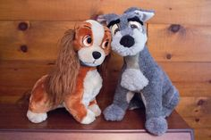 Vintage Large Lady & The Tramp Disney Plush by JenuineCollection on Etsy