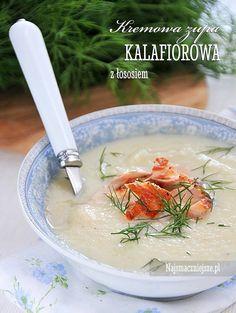 Zupa kalafiorowa z łososiem