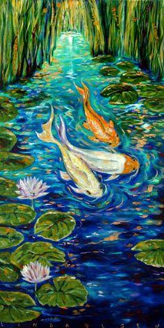 The rhythm of life life paint for Koi art nature