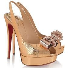 Image result for shoes louboutin gold