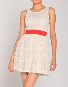 Gondola Peep Back Lace Dress, $27