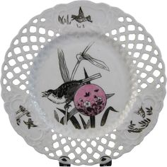 Aesthetic Movement Minton Plate - Birds 1879 from englishvictorian on Ruby Lane