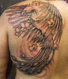 phoenix tattoo w shading cool tattoo ideas pinterest phoenix tattoo and tattoo half. Black Bedroom Furniture Sets. Home Design Ideas
