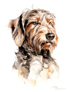 Watercolor Pet Portrait Watercolor Dog Portrait 7 Portraits