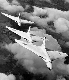 The Avro Vulcan, originally it was painted in anti-flash white shown here.  As Soviet air defence improved low level flight was needed to avoid it and the aircraft were painted with a camouflage pattern.