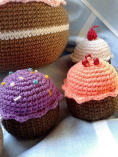 Cupcakes crochet Oma & Mutti