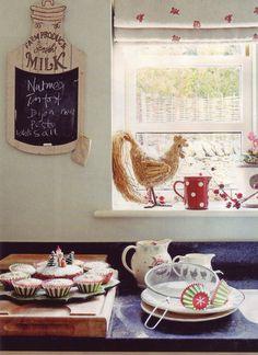 Emma Bridgewater jugs & plates in a cottage kitchen