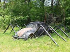 yard art for Josh - and it is a spider no less!!! Hahahaha!!!