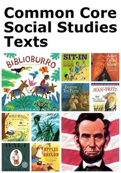 A helpful list of engaging and illustrated social studies texts aligned to the CCSS.