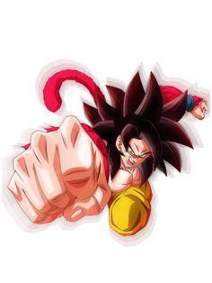Dragon Ball Gt, Dragon Ball Image, Super Saiyan 4 Goku, Dbz Characters, Mermaid Art, King Kong, Anime Art, Geek Stuff, Defenders