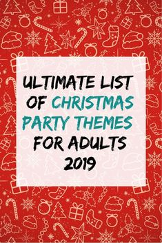 Looking for fun Christmas party themes? Pick one of these 38 Christmas party themes for adults! From Christmas movie themes to food-related party ideas, you'll find the perfect idea here. Lots of fun and unique ideas! Check it out! Christmas Party Themes For Adults, Fun Christmas Party Ideas, Adult Christmas Party, Holiday Party Themes, Adult Party Themes, Office Holiday Party, Xmas Party, Movie Themes, Christmas Holiday