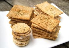 Herb & Garlic Paleo AIP Crackers from Flash Fiction Kitchen