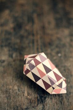 homemade paper gem