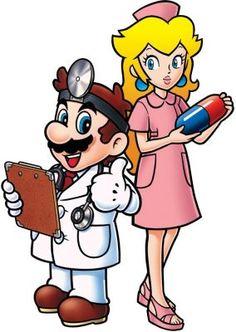 Dr Mario and Nurse Peach