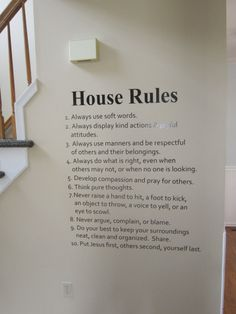 This makes expectations clear and covers all the bases. The rules themselves were adapted from the Duggars family rules.