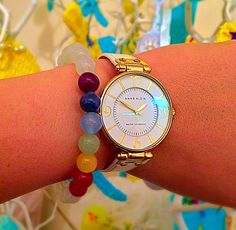 unlock your chakra Stone Bracelet, Bracelet Watch, Seven Chakras, Chakra Bracelet, Chakra Meditation, Chakra Stones, Our Body, Michael Kors Watch, Beaded Bracelets