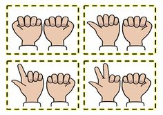 Finger patterns for numeracy/mathematics activities Free and printable from Classroom Treasures.