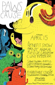 Paws for the Cause poster by Ohara Hale.