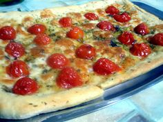"""Setteveli's Blog: Pizza Rustica with Pomodorini and """"Galbanino""""!My personal version is with peeled tomatoes,grated mozzarella,some little - very little - spoons of """"PHILADELPHIA"""",and origan!"""