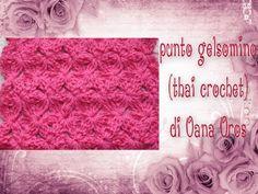 punto gelsomino ( mali dokmai, thai crochet ) all'uncinetto