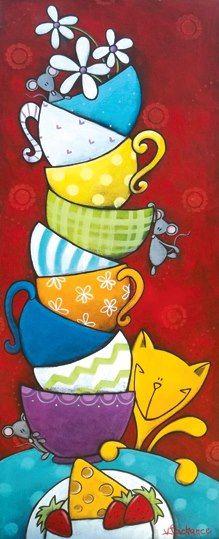 tea cups / Valerie Lachance