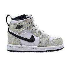 dce8883583ec2d Kid s Toddler Nike Jordan 1 Retro High Prem BT White Pure Plt Sz in  Clothing