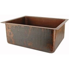 Premier Copper Products Hand-Hammered Copper Undermount Single Basin Sink | Overstock.com Shopping - The Best Deals on Bar Sinks