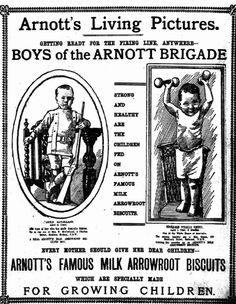 Arrowroot advertisement, Sydney Morning Herald/Pittwater Online News Vintage Food Posters, Vintage Labels, Vintage Ads, Vintage Stuff, Australian Vintage, Australian Cars, Retro Advertising, Vintage Advertisements, Arrowroot Biscuits