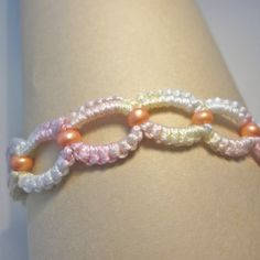 Pastel Tatted Lace Bracelet by WondercakeDesigns