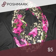 cheers print scarf cheers print infinity scarf with flower prints Accessories Scarves & Wraps