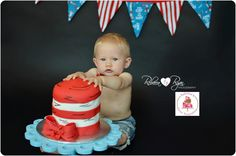 Awesome Cat in the Hat cake from Sabrinas Sweet Temptations -  Rebecca Ryan Photography - Dr Seuss bunting by Little Free Radical