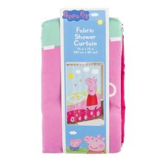 Peppa Pig Peppa's Pond Shower Curtain, 1.0 CT, Multicolor