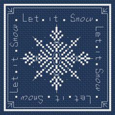 Let It Snow free cross stitch pattern